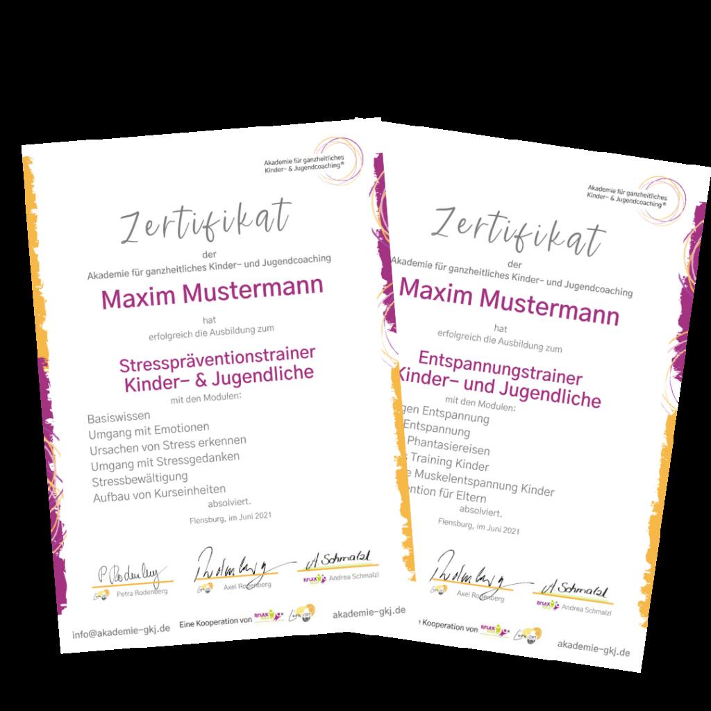 Zertifikat Entspannungstrainer Ausbildung